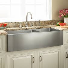 sleek stainless steel kitchen sink signature hardware