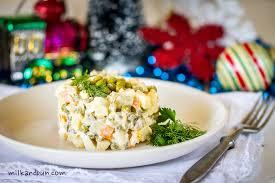 olivier cuisine winter salad olivier salad milkandbun