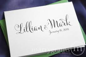 personalized thank you cards customize wedding cards name date thank you whimsical style