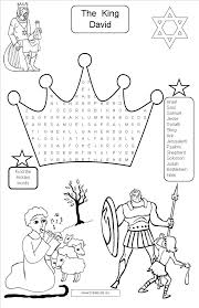 king david coloring sheet free download