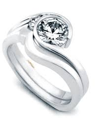 Contemporary Wedding Rings by Escape Contemporary Engagement Ring Mark Schneider Design