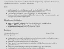 Resume Examples For Caregivers Classy Idea Resume For Home Health Aide 14 How To Write A Perfect