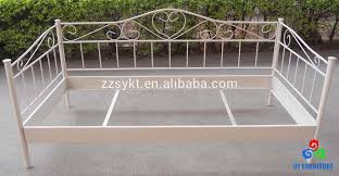 White Metal Daybed Metal Cot Modern Bed Frame Metal Cot Modern Bed Frame Suppliers