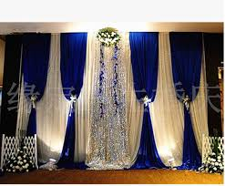 wedding backdrop blue free shipping royal blue wedding backdrop with silver sequin in