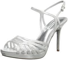 amazon com nina women u0027s flirty fy dress sandal silver 10 m us