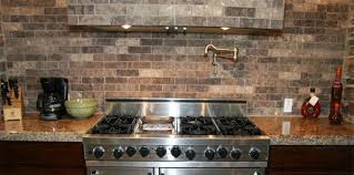 faux kitchen backsplash faux brick tile backsplash in the kitchen tile everything there