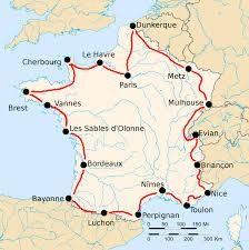 Paris France Map by 1925 Tour De France Wikipedia