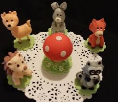 forest animals woodland cake topper woodland baby shower forest