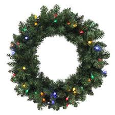 trim a home led pre lit wreath with multi light 24
