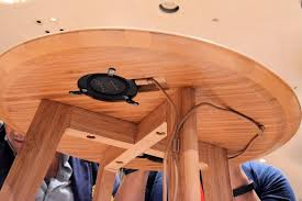 Wireless Charging Table Furniqi Furniture Line Seamlessly Integrates Qi Wireless Charging Tech