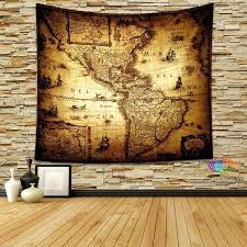 Maps Wall Decor Vintage World Map Wall Tapestry Vintage World Map