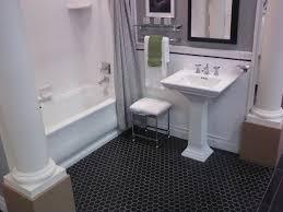 bathroom simple hex bathroom floor tile room design decor