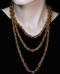 gold necklace vintage images Russian imperial era 100 gr gold guard chain antique jewelry jpg