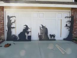 halloween garage door decorating ideas halloween cat door