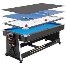 outdoor air hockey table mightymast 7ft revolver 3 in 1 pool air hockey table tennis game