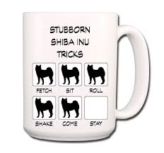 shiba inu stubborn tricks large 15 oz coffee mug