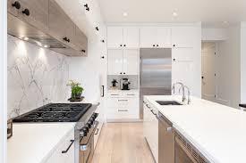 cuisine moderne blanche moderne blanche et marbre