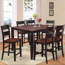 holland house 8202 7 piece counter height dining set with square