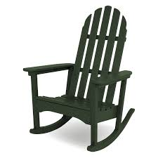Rocking Chair Design Rocking Chair Polywood Classic Bimini Recycled Plastic Adirondack Rocking Chair