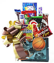 Snack Basket Delivery Sport Lover U0027s Snack Basket For Him Gift Baskets Oakville Ontario