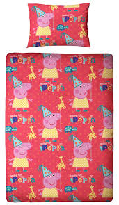 Peppa Pig Toddler Duvet Cover Peppa Pig Funfair Single Panel Duvet Quilt Cover Kids Reversible