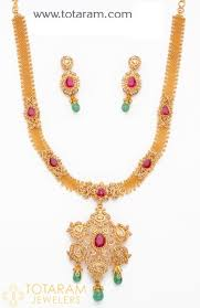 drop beads necklace images 22k gold uncut diamond necklace drop earrings set with ruby jpg