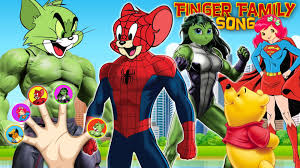 Tom Jerry Halloween Costumes Tom U0026 Jerry Spiderman Hulk Finger Family Talking Angela