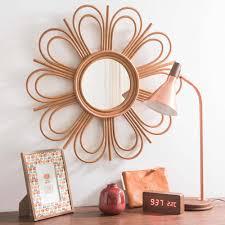 miroir jardin d ulysse miroir en rotin d 62 cm vintage flower vintage pinterest
