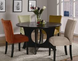 5 pc round pedestal dining table round pedestal table 5 piece dining set in chestnut finish regarding
