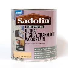 sadolin ultra highly translucent woodstain ultra new pine 1l