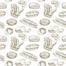 hand drawn illustration bakery seamless wallpaper royalty free