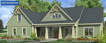 Waterstown House Plan 17 37 Front Elevation Craftsman Style
