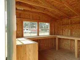 workbench in derksen shed shed interior pinterest building