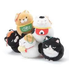 hige manjyu gohan cat plush collection ball chain ball chain