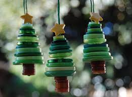 preschool crafts for button trees ornament craft