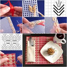 how to make plastic canvas straw placemats fab diy