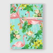 botanical wrapping paper flamingo print botanical wrapping paper roses gift wrap