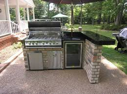 Outside Kitchen Cabinets Kitchen L Shaped Outdoor Kitchen Cabinet With Marble Top