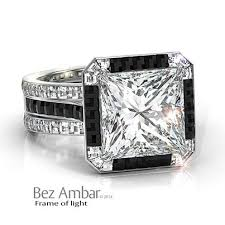 white and black diamond engagement rings black diamond jewelry elegance in a gemstone