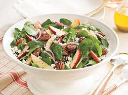 spinach apple salad with maple cider vinaigrette recipe myrecipes