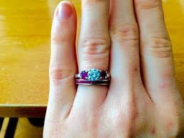 wedding band that will go with my east west oval e ring my wedding band and engagement ring just arrived following a