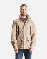 hampstead field jacket for men with hidden zip placket london fog