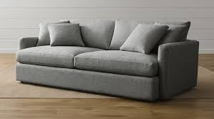 crate and barrel down filled sofa lounge ii grey couch reviews crate and barrel