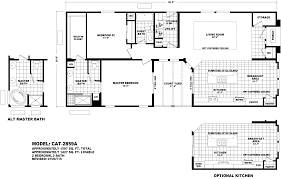 Floor Plans For Trailer Homes Cavco Catalina Series Manufactured Homes By Mh Factory Homes