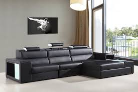 casa polaris mini contemporary bonded leather sectional sofa