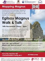 egilsay magnus walk and talk 14 nov u2013 archaeology orkney