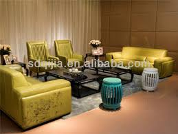 Luxury Leather Sofa Sets Italian Style Luxury Modern Green Printing Leather Sofa Set Living