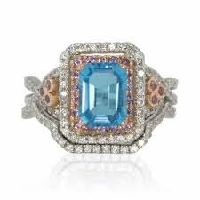 blue topaz engagement rings blue topaz engagement ring and diamond wedding band set 30