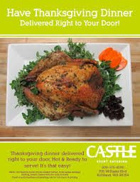 thanksgiving dinner delivered castle catering s thanksgiving delivery in richland washington