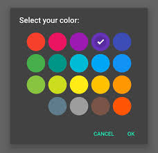 android color picker pickers materialdoc